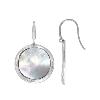 Mother Of Pearl Disc Earrings