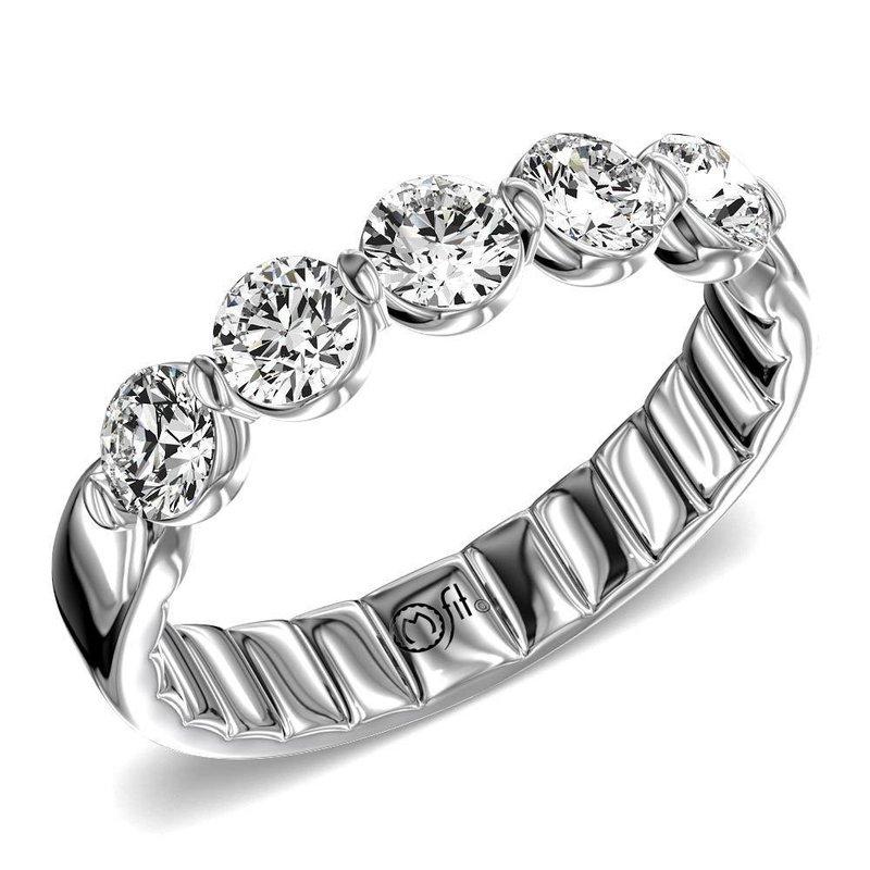 Lasker Bridal 5-Stone Diamond Band - 1CTTW