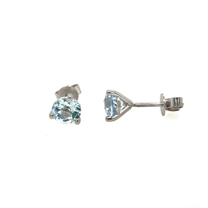Lasker Gemstone Blue Topaz Studs