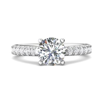 Classic Prong Engagement Ring Mounting for Round Center