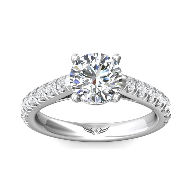 Martin Flyer Classic Prong Engagement Ring Mounting for Round Center