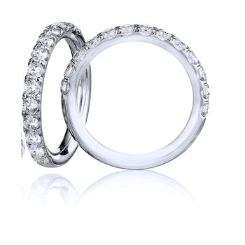 Classic Shared Prong Wedding Band - 1/2TW