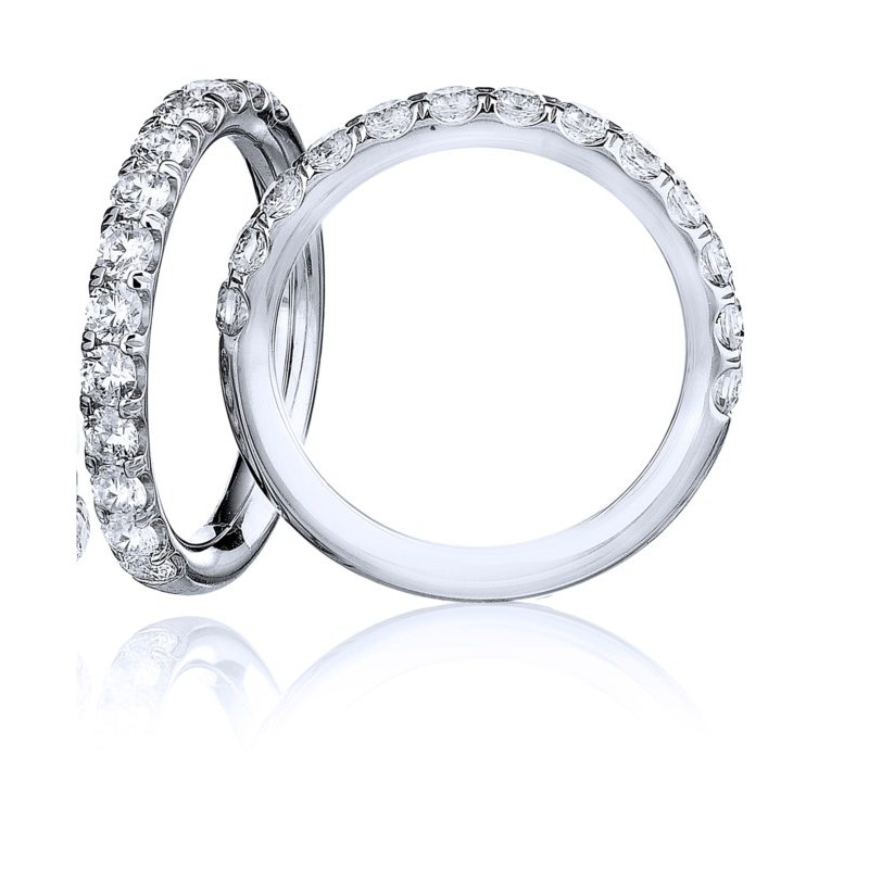 Lasker Bridal Classic Shared Prong Wedding Band - 1/2TW
