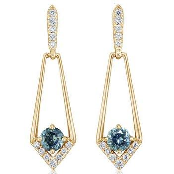 Montana Sapphire Geometric Earrings