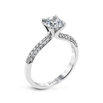 Classic Pave Engagement Ring Mounting