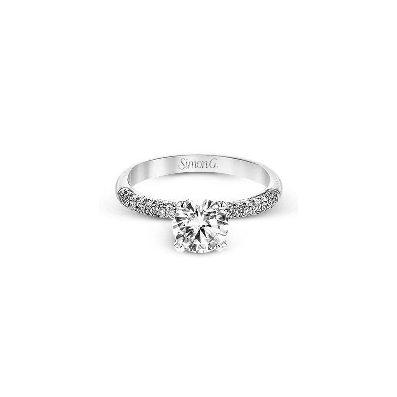 Simon G Classic Pave Engagement Ring Mounting