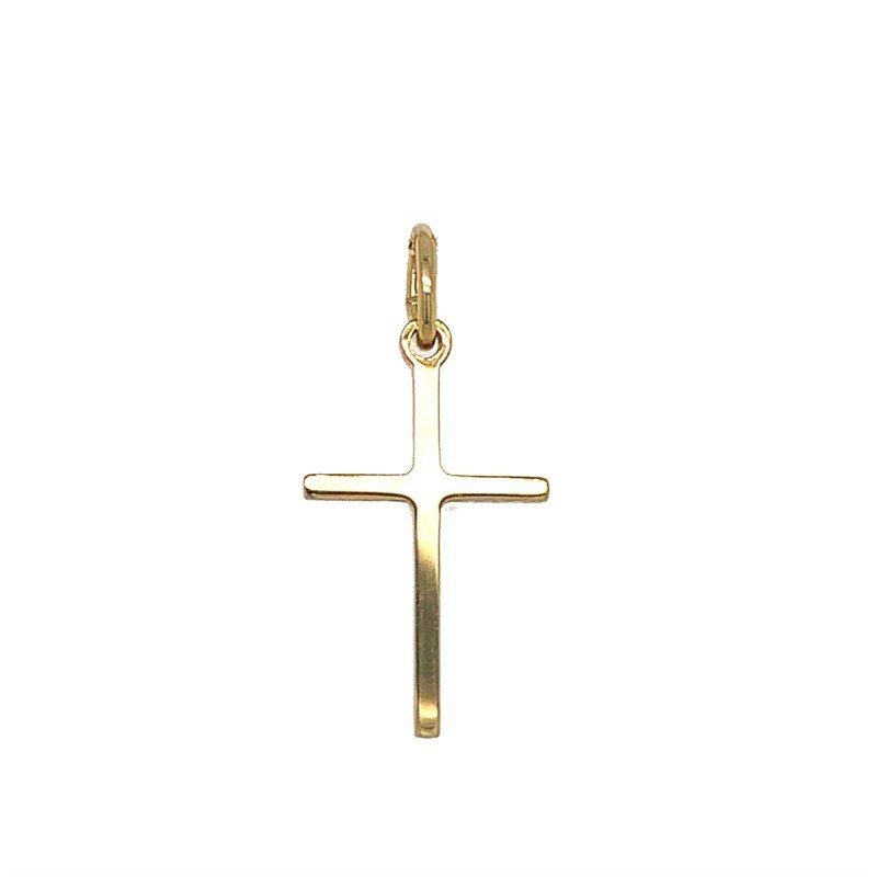 Lasker Gold Fashion Small Yellow Gold Stick Cross