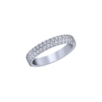 Classic 2-Row Diamond Pave Band - 1/2TW