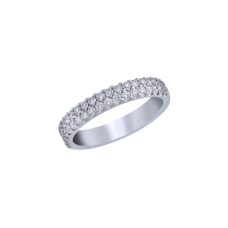 Lasker Bridal Classic 2-Row Diamond Pave Band - 1/2TW
