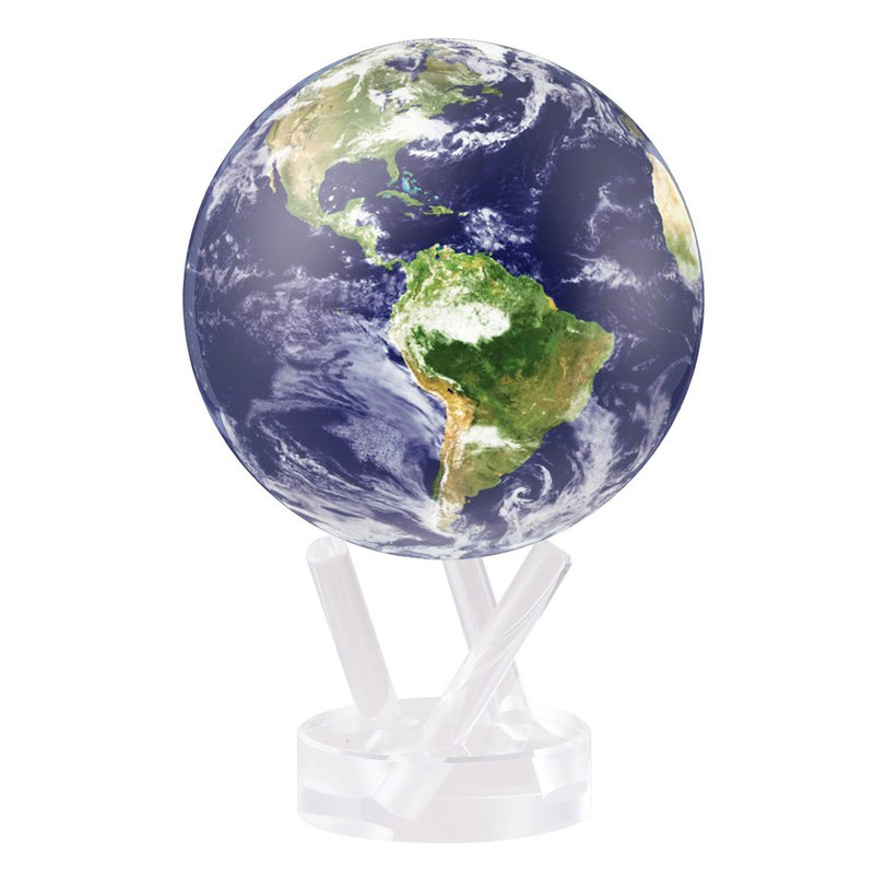 Mova Globes Earth with Clouds