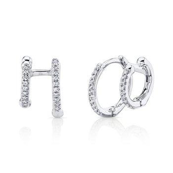 You & Me Double Huggie Earrings