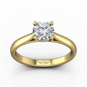 Solitaire Engagement Ring Mounting for a Round Center