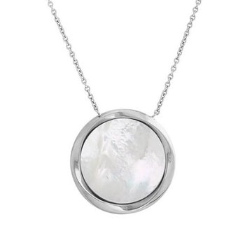 Mother Of Pearl Disc Pendant