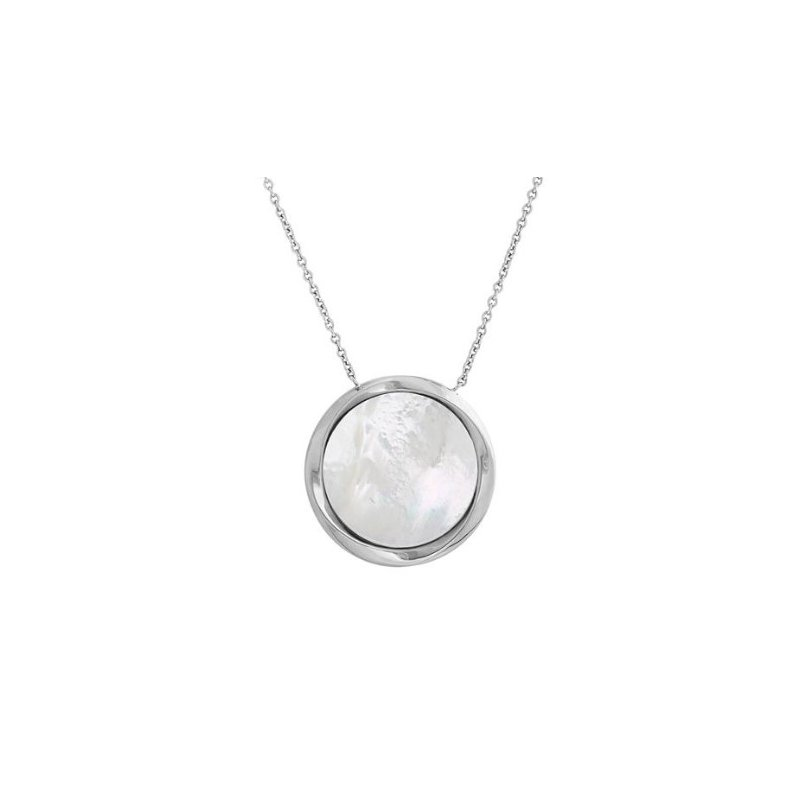 Lasker Pearl Fashion Mother Of Pearl Disc Pendant