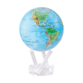 Relief Map Blue Mova Globe