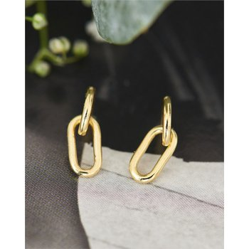 Mini Oval Link Earrings