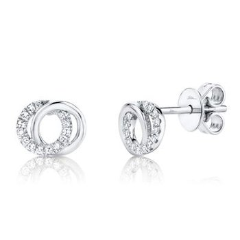 You and Me Intersecting Circle Stud Earrings