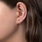 Gabriel Fashion 14K Yellow Gold Geometric Huggie Earrings