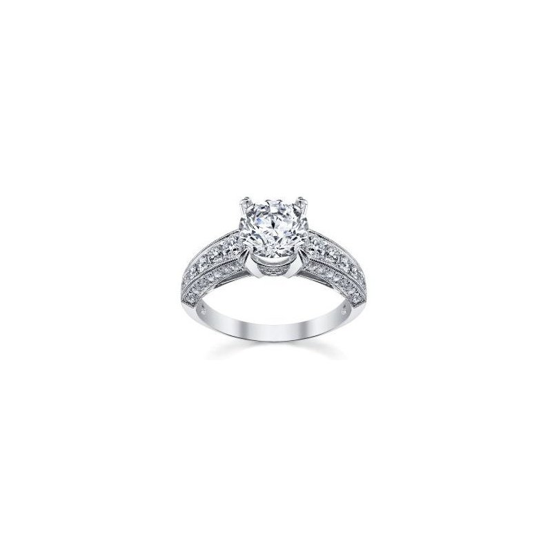 Lasker Bridal SHOW STOPPER!! Vintage-Inspired Ring With 2.25ct Diamond