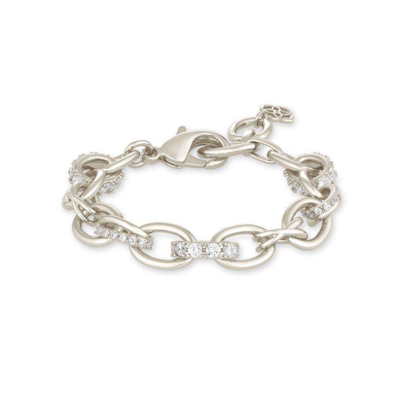 Kendra Scott Kendra Scott Livy Chain Bracelet Rhodium Metal