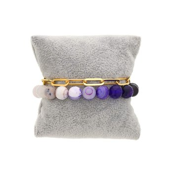Purple Quartz Ombre Bracelet Set