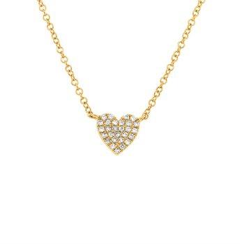 Full Heart Pave' Diamond Pendant
