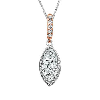 Marquise Shaped Diamond Pendant