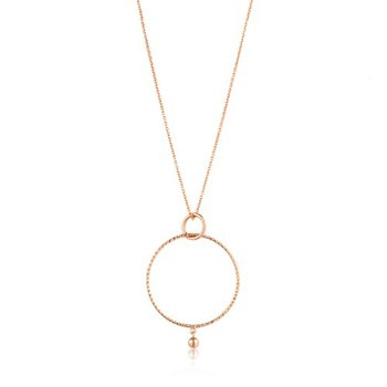Textured Double Circle Necklace
