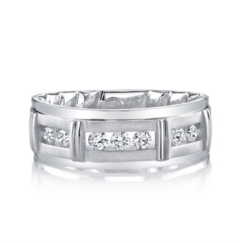 8mm Segmented Channel Diamond Band - 1/2cttw