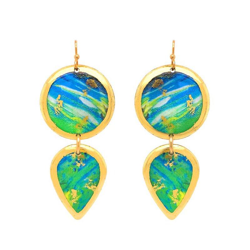 Evocateur Mahi Mahi Abstract Gala Earrings