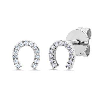 Lucky Diamond Pave Horseshoe Earrings