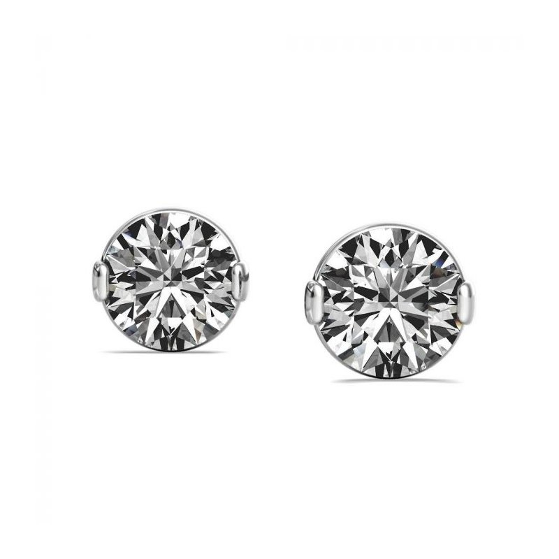 Lasker Diamond Fashion One & Only Stud Earrings - 0.20CTTW