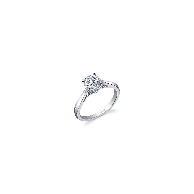 Lasker Bridal Filigree Solitaire Engagement Ring Mounting