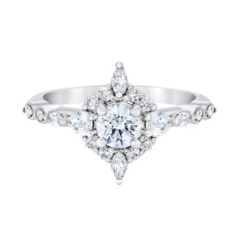 Wishing Star Diamond Halo Ring
