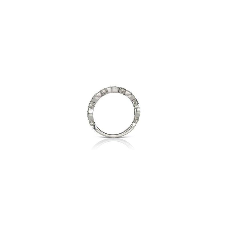 Lasker Bridal White Gold Scalloped Ring