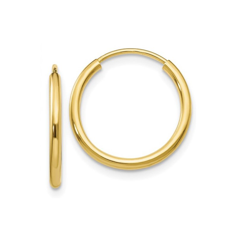 Lasker Gold Fashion Endless Hoops 1.5x16mm