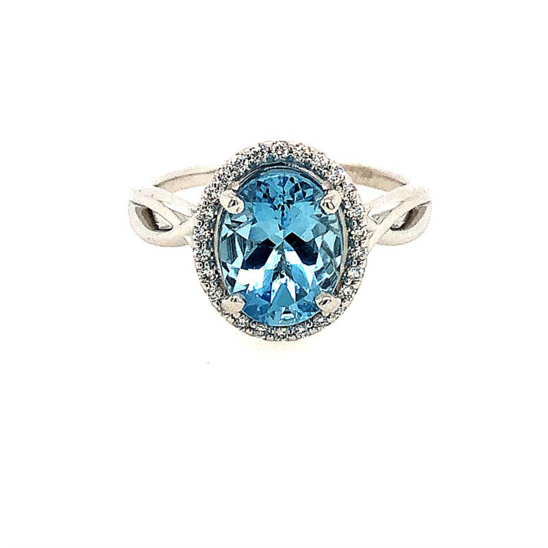 Lasker Gemstone Fine Aquamarine Ring
