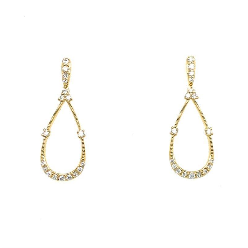 Lasker Diamond Fashion Open Tear Drop Earrings