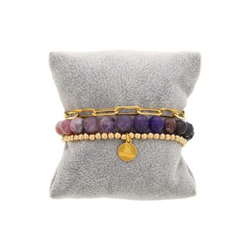 Purple Ombre Bracelet Stack