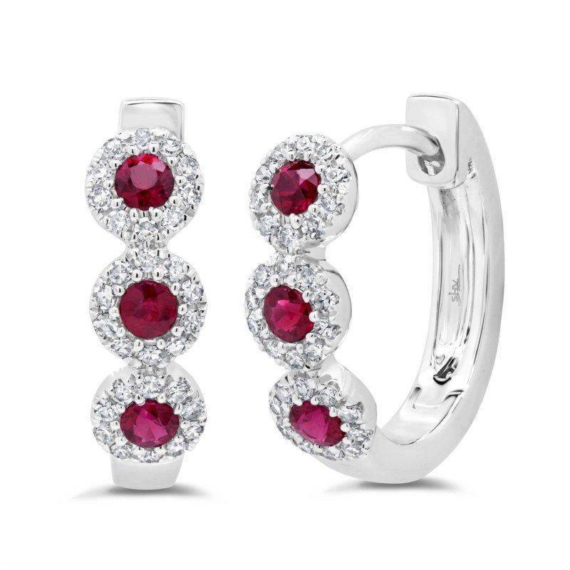 Lasker Gemstone Center Of My World Ruby Earrings