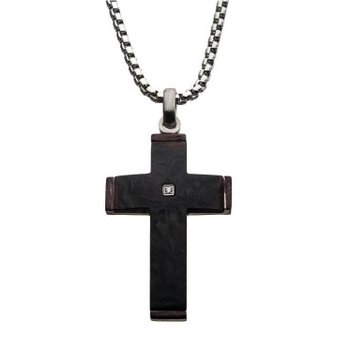 Stainless Steel and Carbon Fiber Cross
