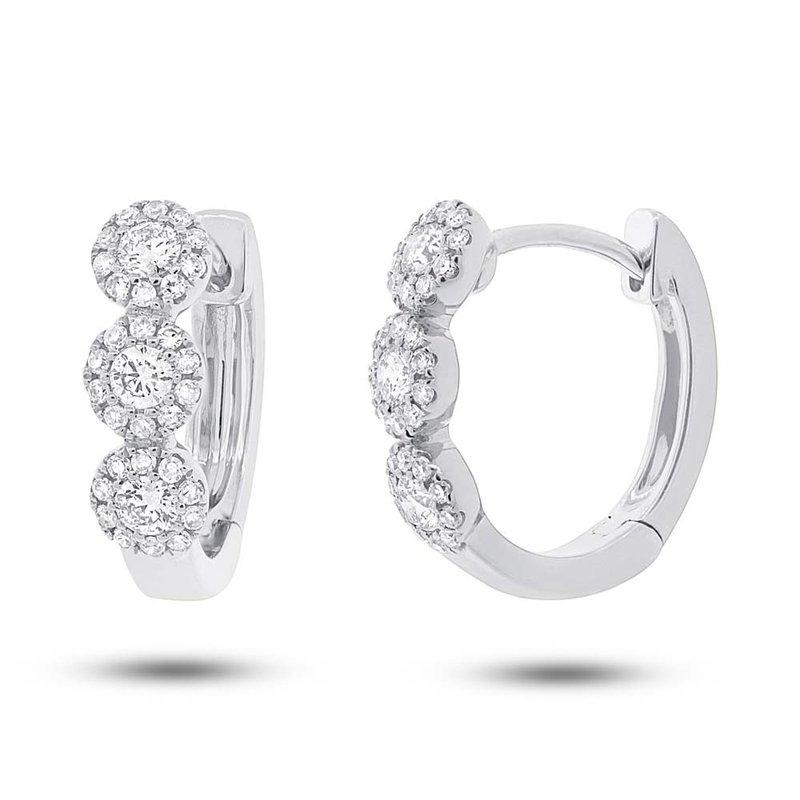Lasker Diamond Fashion Center Of My World Hoop Earrings - 1.10cttw