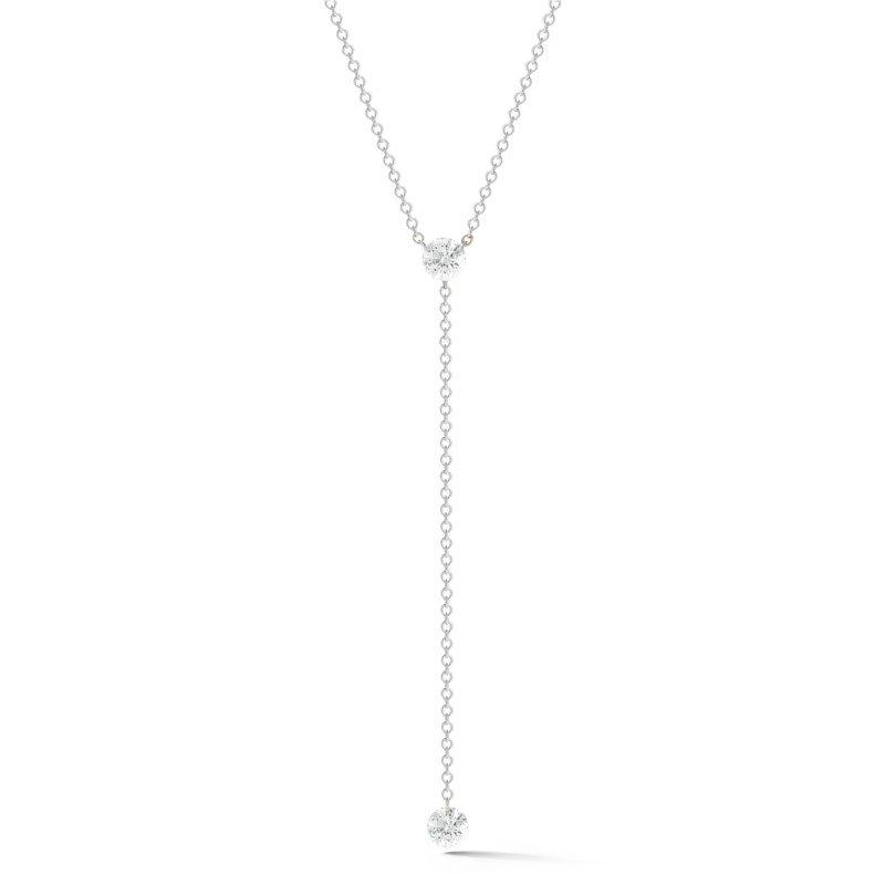 Lasker Diamond Fashion AERO Diamond Lariat Necklace