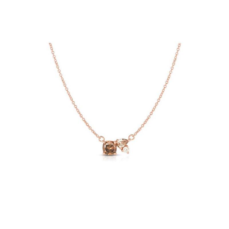 Lasker Diamond Fashion Cognac and Champagne Diamond Pendant