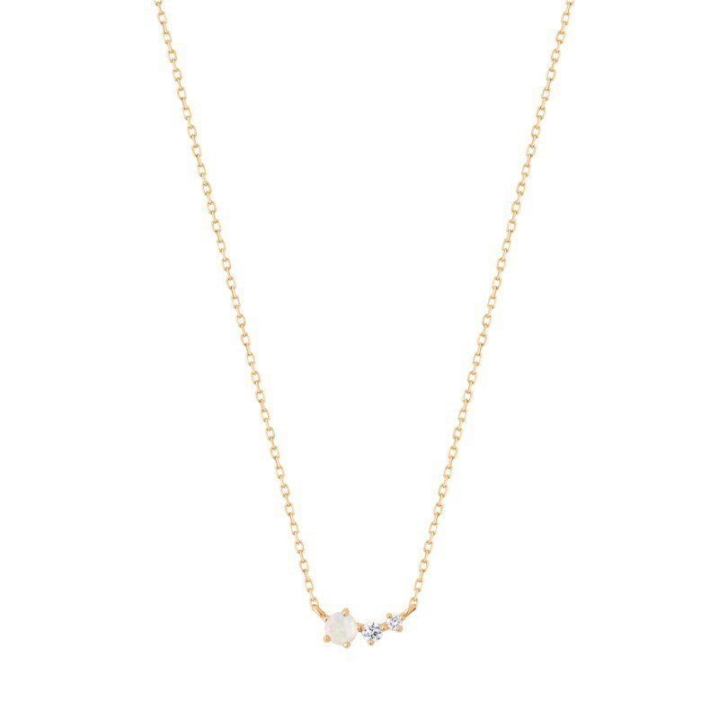 Aurelie Gi Zara Opal and Diamond Necklace
