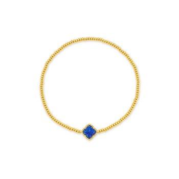 Kendra Scott Mallory Stretch Bracelet Gold Indigo Opal