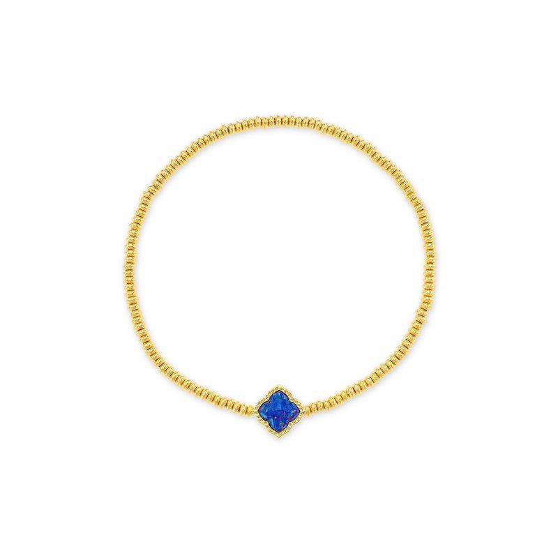 Kendra Scott Kendra Scott Mallory Stretch Bracelet Gold Indigo Opal