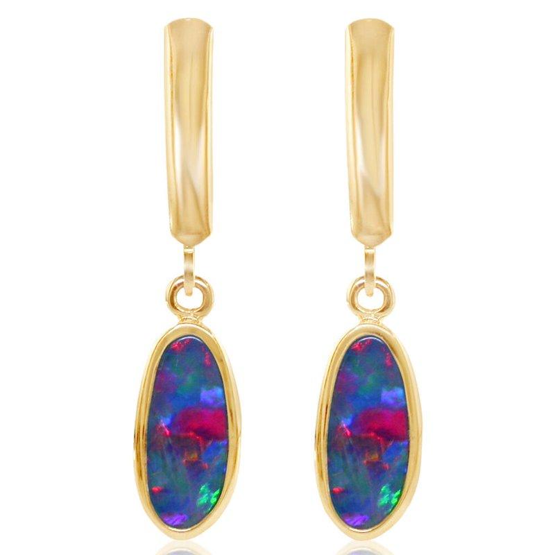 Lasker Gemstone Opal Leverback Earrings