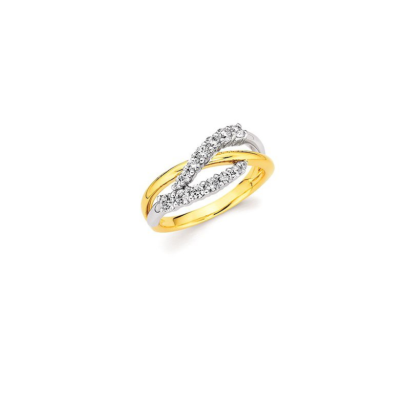 Lasker Diamond Fashion Crossover Diamond Band