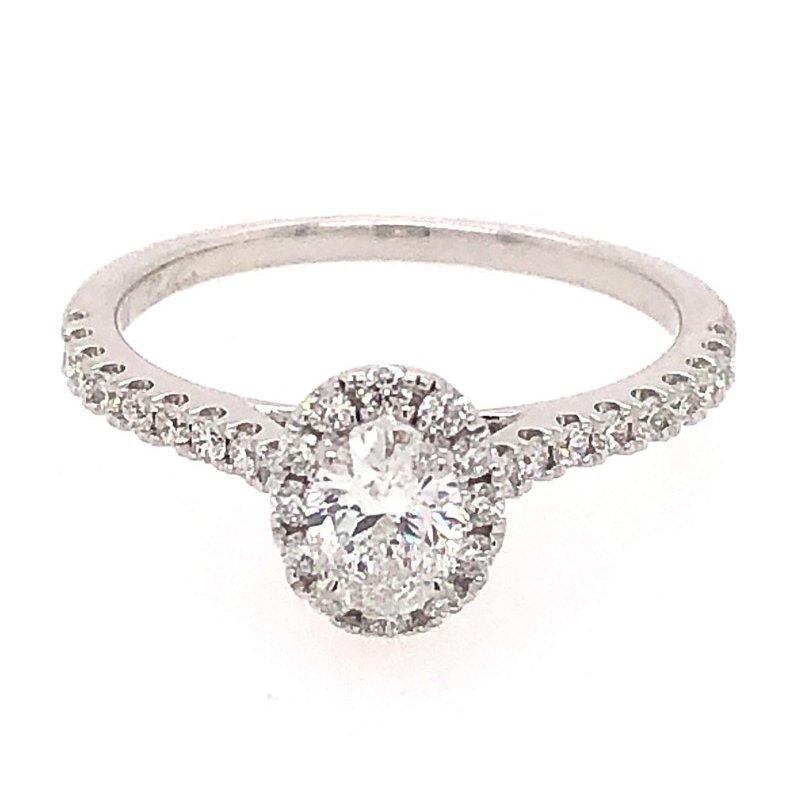 Lasker Bridal Oval Halo Diamond Engagement Ring